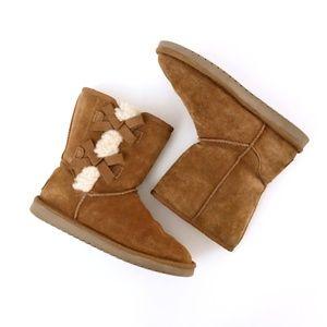 Ugg Koolaburra Women's Cognac Sherpa Boots 9